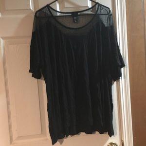 Black sheer shirt size 4 (4x)